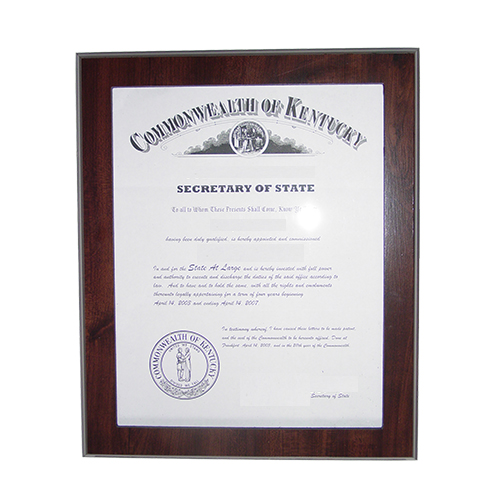 Arkansas Notary Commission Certificate Frame