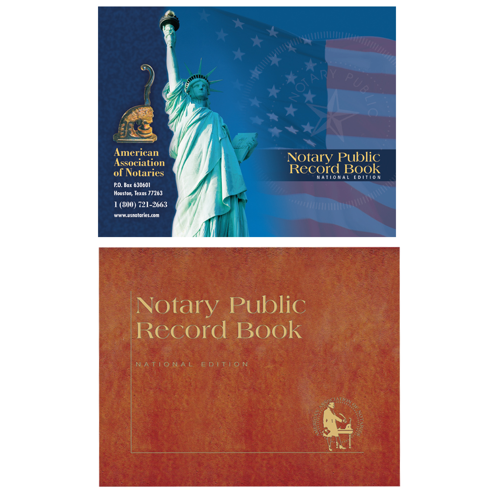 Arkansas Notary Public Record Book - (448 entries with thumbprint space)