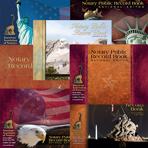 Arkansas Notary Public Record Book - (352 entries with thumbprint space)
