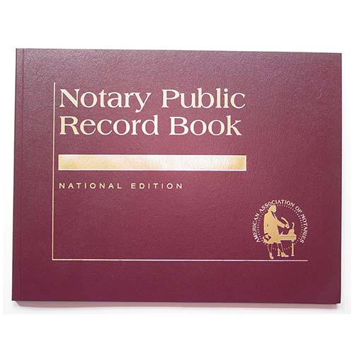 Arkansas Contemporary Notary Public Record Book - (with thumbprint space)