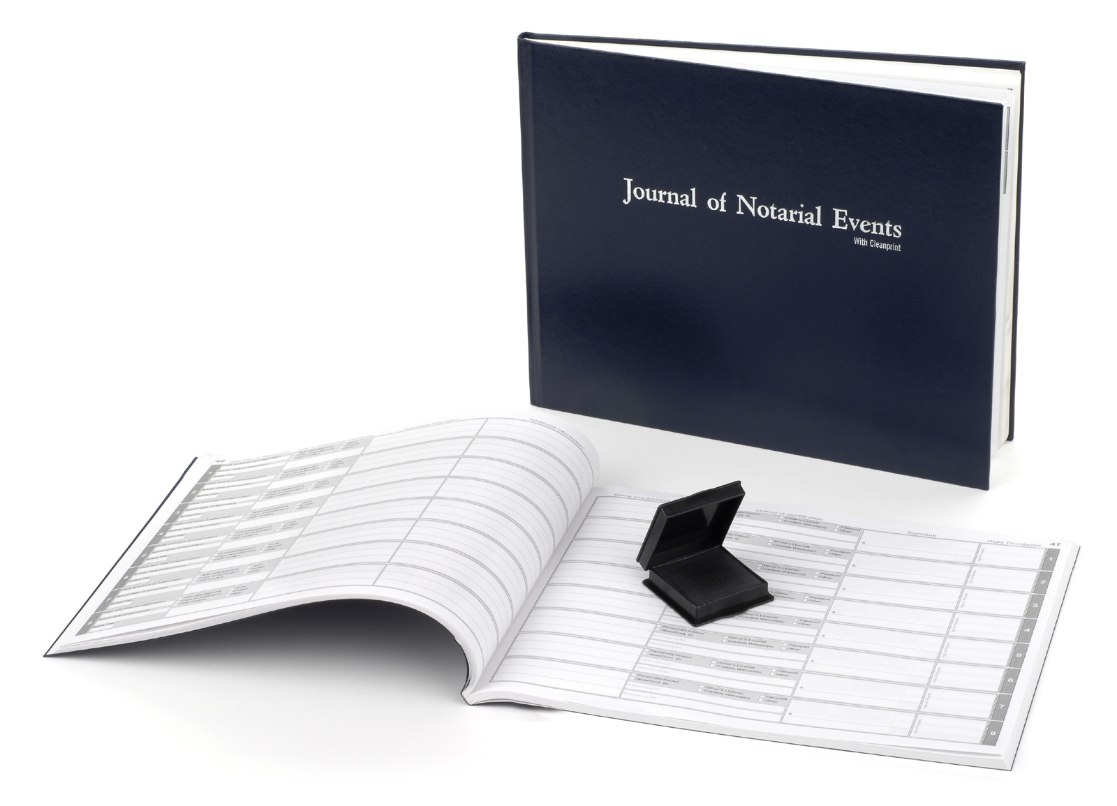 Arkansas Hard Cover Notary Journal with Inkless Thumbprint Pad